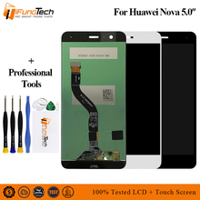 Black 100% New Full LCD DIsplay + Touch Screen Digitizer Assembly For Huawei Nova CAZ-AL10 CAN-L01 / L11 / L02 / L12 / L03 / L13 for huawei nova caz al10 can l13 l03 l12 l02 l11 l01 lcd display monitor panel touch screen digitizer sensor assembly frame