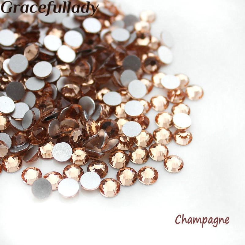 Strass & Dekorationen Gewissenhaft Ss3-ss34 Champagne Glitter Nicht Hotfix Farbe 3d Nail Art Dekorationen Flatback Strass Strass Steine Und Verdauung Hilft