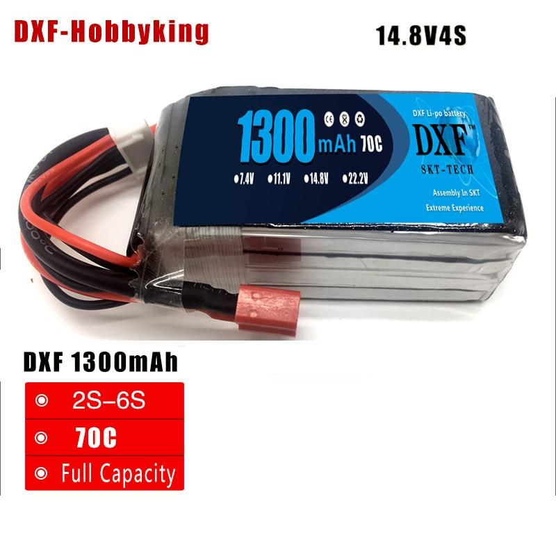DXF 1300mAh 14.8V 70C(Max 140C) 4S Lipo Battery Pack for FPV Racer Race car drone