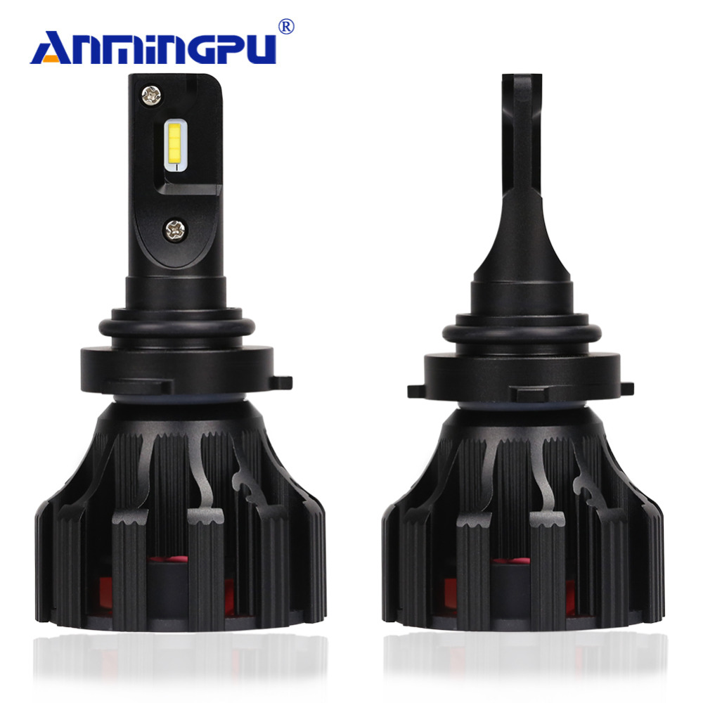 цена на ANMINGPU 2x 6500K 60W Headlight Bulbs 9006/HB4 9005/HB3 Led Car Light H7 H4 Led Bulb H1 H3 H8 H11 Led Lamp for Auto 8000LM 12V