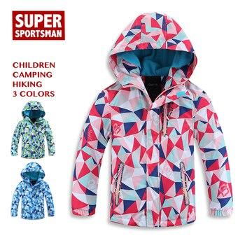 8f9577aa6 Los niños al aire libre de senderismo Softshell niños Fleece chaquetas  impermeables bebé niño niña acampar chaqueta abrigo de invierno Niño ...