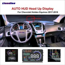 Liandlee HUD Car Head Up Display For Chevrolet Holden Equinox 2017-2018 Safe Driving Screen OBD Data Projector Windshield liandlee car hud head up display for chevrolet colorado s10 gmc canyon 2012 2018 safe driving screen obd projector windshield