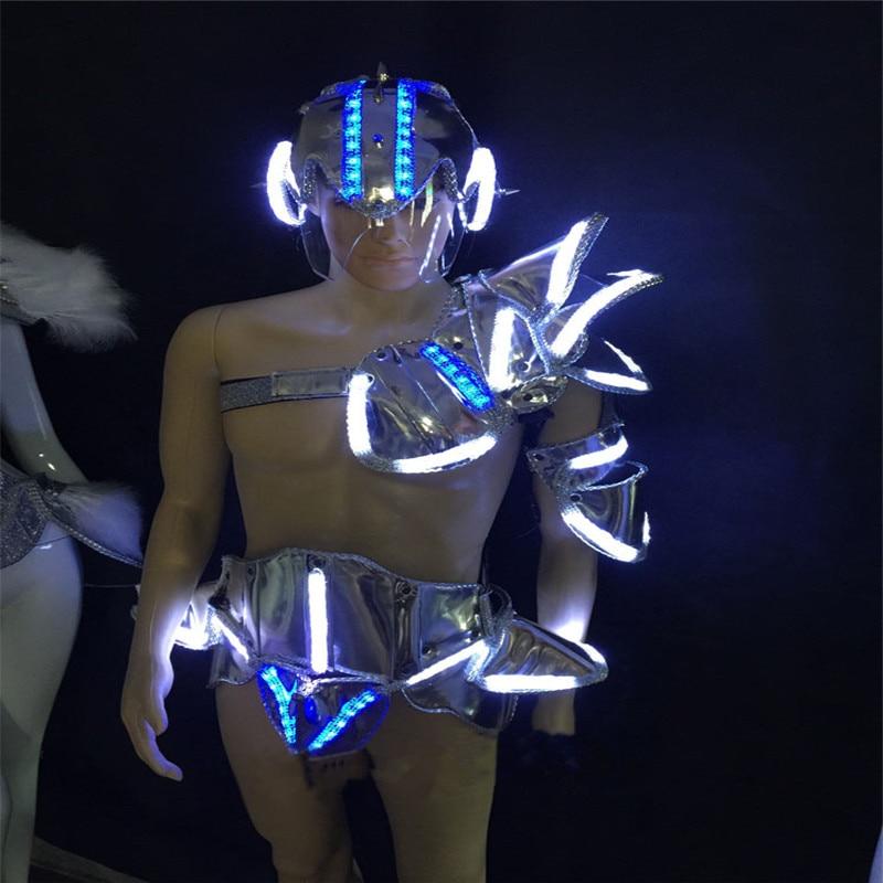 WX22 Mens Singer silver mirror clothes ballroom dancing