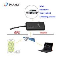 GT02 Podofo Mini Car GPS Tracker GSM GPRS GPS Locator Vehicle Tracking Realtime Tk110 Google Device