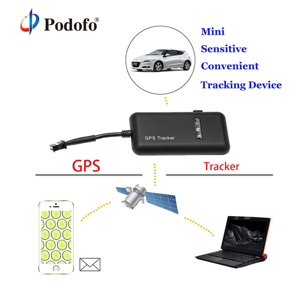 GT02 Podofo Mini Voiture GPS Tracker GSM GPRS GPS Locator Véhicule Suivi En Temps Réel tk110 Dispositif Google Lien En Temps Réel