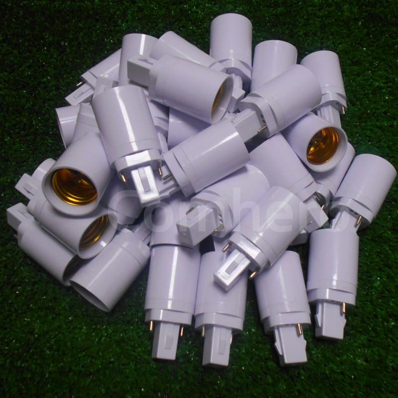 G24 To E27 Adapter G24 To E26 Lamp Holder Converter Lamp Base Socket Copper LED G24d-1,g24d-2,g24d-3 To E27 Screw Base Convertor