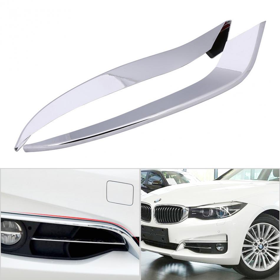 Front Fog Light Lamp Eyelid Cover Trim Set Car Accessories