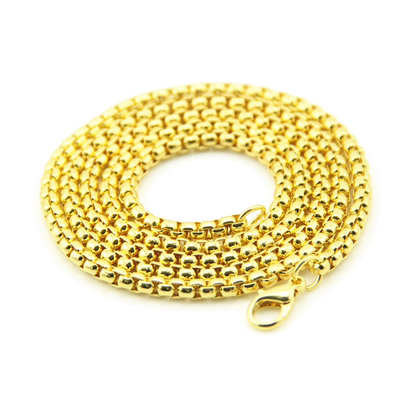 1PC Hip-hop series fashion men and women alloy square pearl necklace street accessories