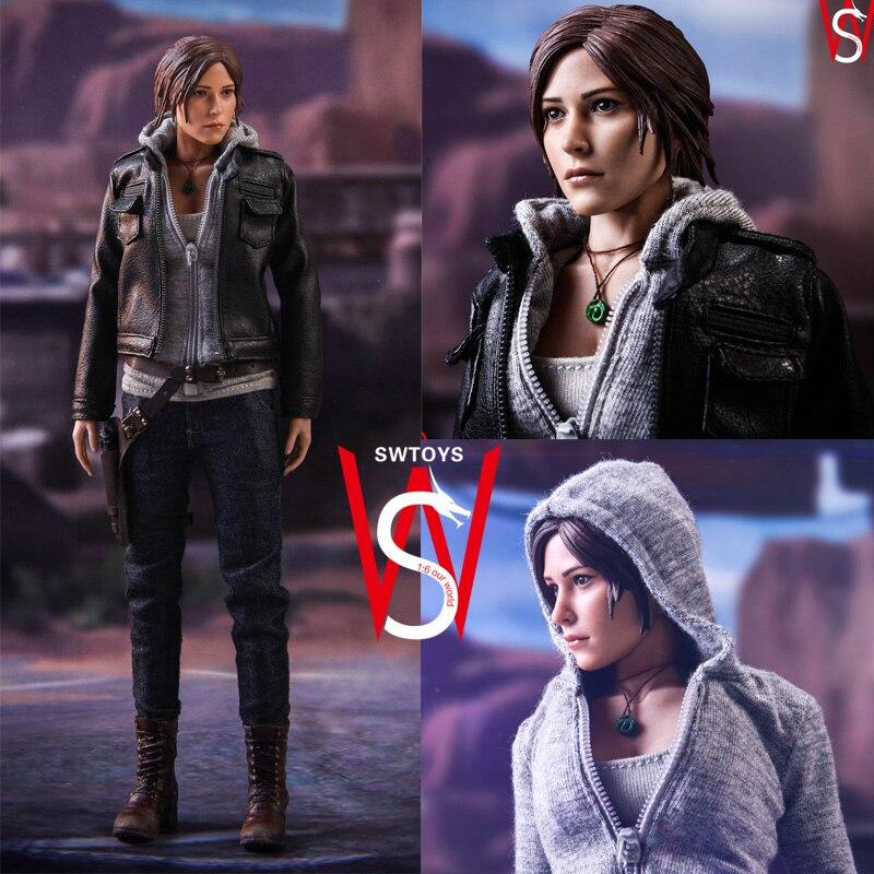 SWtoys 1/6 Tomb Guerriero Lara Croft 2.0 12 ''Da Collezione Action Figure Modello Giocattolo modello Pittura