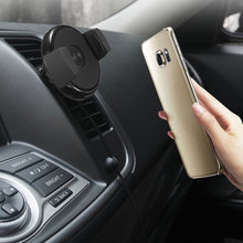 Multifunction Car Phone Holder Mini Wireless Air Vent Mount Charger Dock Mount ABS Universal Power Fast Chagring For Samsung