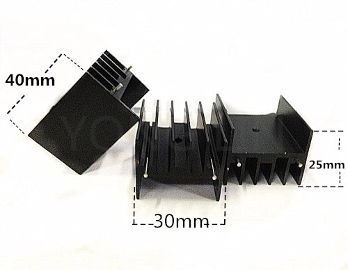 10PCS Aluminum Radiator 30*25-40mm/ic Heatsink/to-220 Heatsink