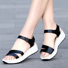Fashion Women Sandals for 2019 Breathable Comfort Shopping Ladies  Summer Platform Black Sandal Shoes