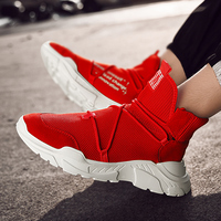High Top Sock Shoes for Men Fashion Soft Sneakers Man Breathable Comfortable Slipon Footwear Male Mocasin Tenis Masculino Adulto