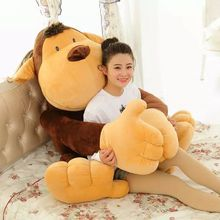 largest 150cm monkey plush toy, long arms monkey,orangutan huging pillow,home decoration surprised birthday gift h2996