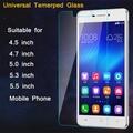 Ultra Thin HD 9 H 2.5D 0.26mm Universal de Cristal Templado de Cine para 4.5 4.7 5.0 5.3 5.5 pulgadas de Pantalla Del Teléfono Móvil Protector