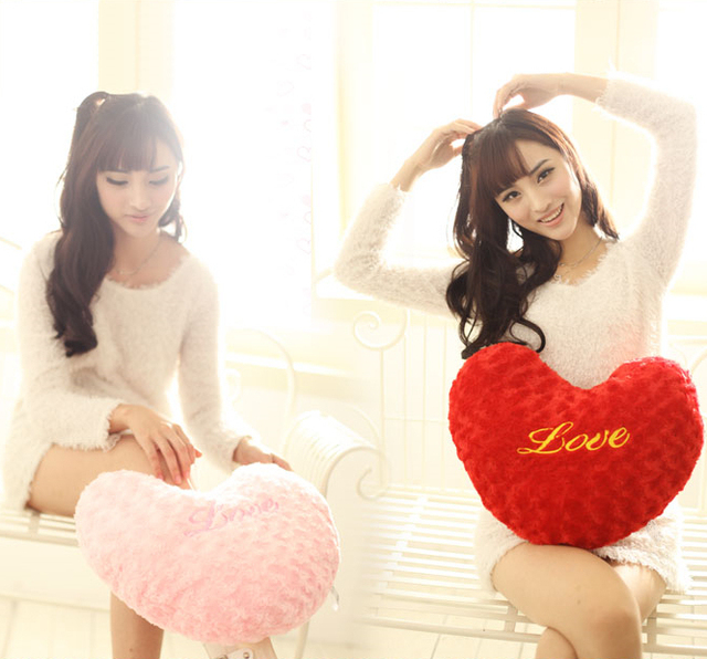 Free shipping~~Love plush toy heart pillow cushion ofhead birthday and Valentine's day gift
