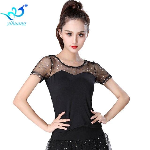 Дамы костюмы для бальных танцев танцевальный костюм топы корректирующие фламенко блузка Современный Стандартный наряды ко