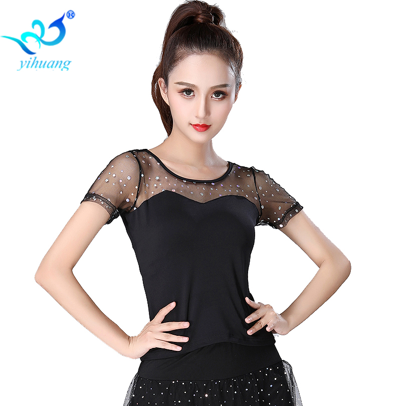 Ladies Ballroom Dance Costume Tops Flamenco Dance Blouse Modern Standard Outfits Competition Latin Salsa Rumba Performance