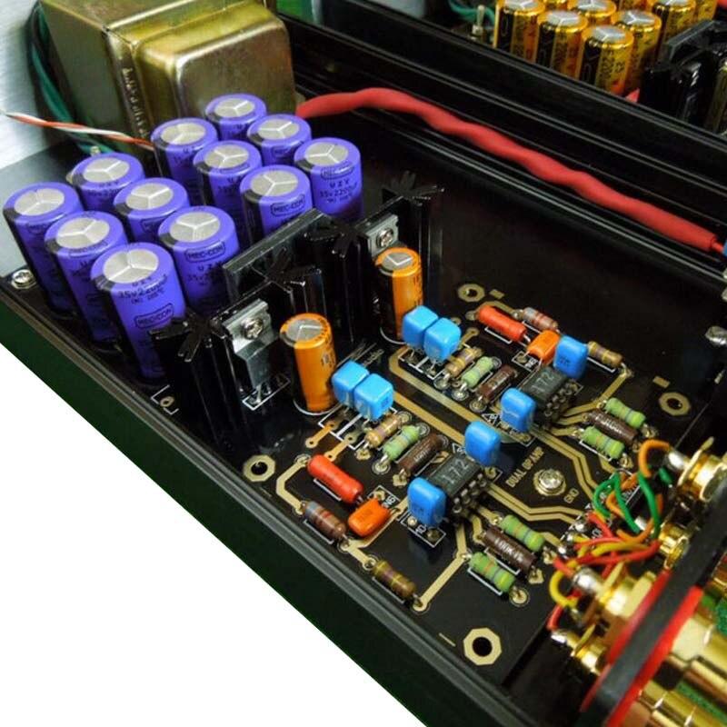 MM carte amplificateur PCBA platines Phono ampli OPA2111KP allemagne double Circuit atténué RIAA violet 35 V Version HIFI bricolage C2-003 - 3
