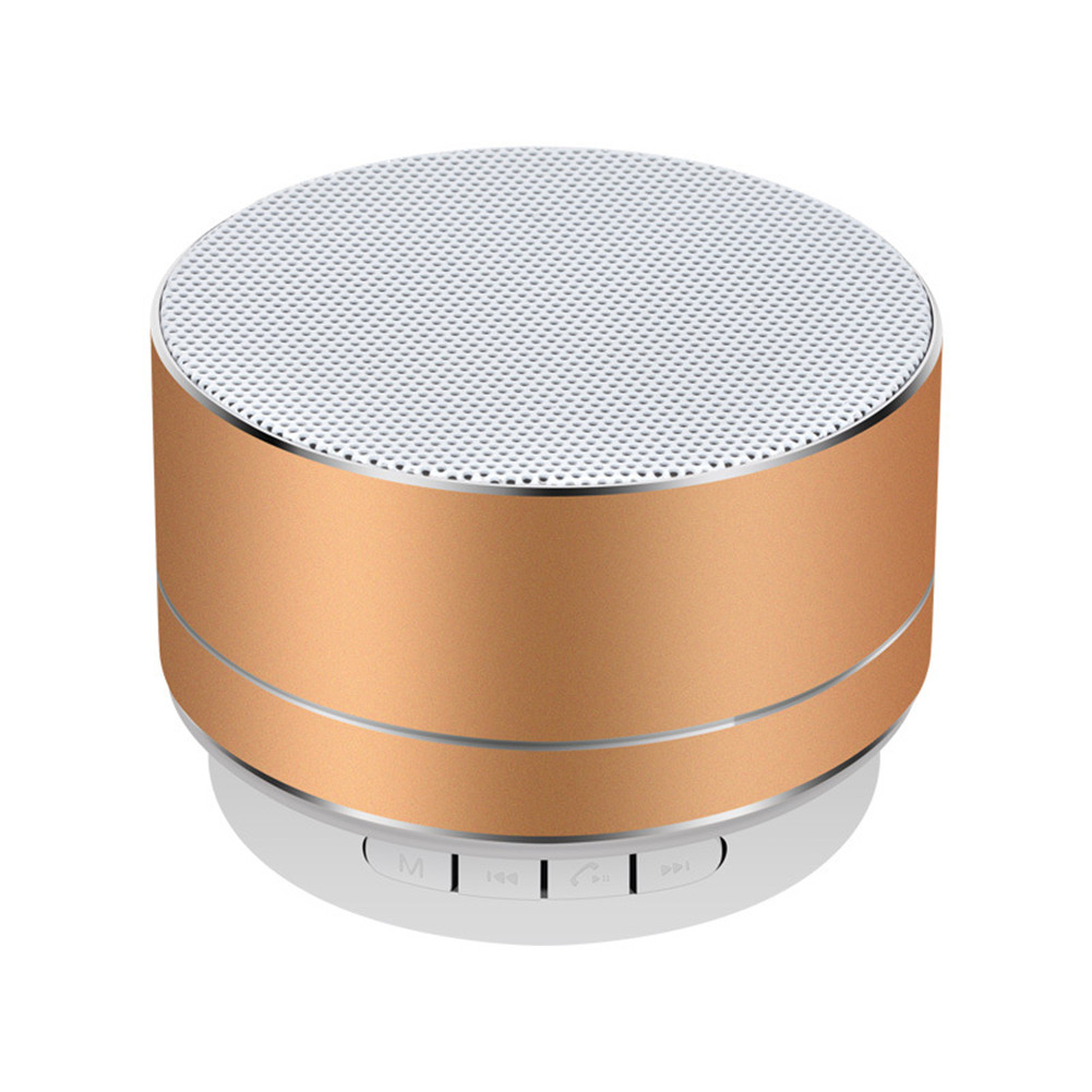 Portable Bluetooth Speaker Mini Wireless Music Receiver Microphone Handfree Call FM Radio LED TF Card Loudspeaker(China)