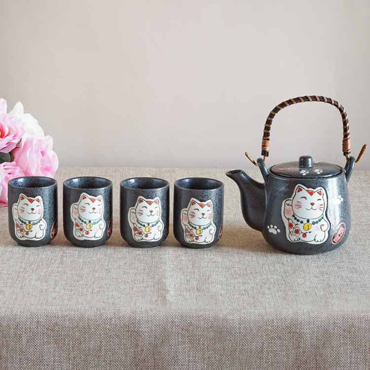 5 in 1 Plutus Cat Teapots Cute Cartoon Cups Coffee Milk Sets Creative Tea Pots Cup