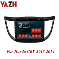 YAZH 1 din 10 Inch HD Capacitive Touch Screen for Honda CRV 2013 2014 Auto Car Radio Crv Stereo Audio Video BT GPS Navigation