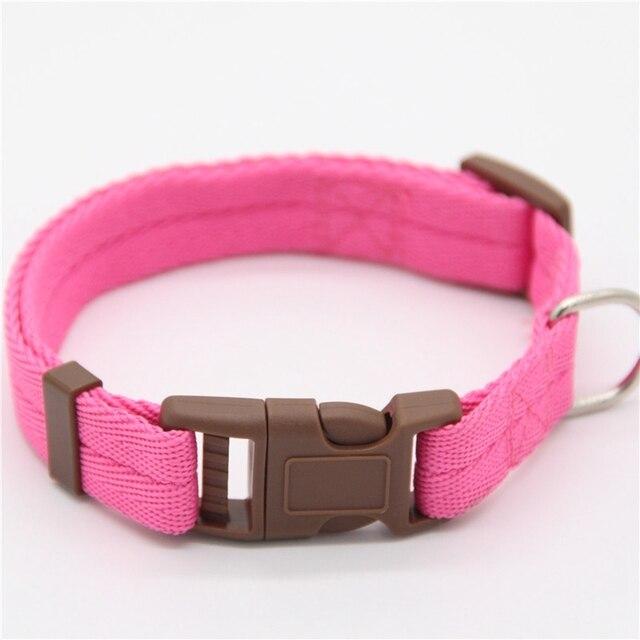Dadugo Pet collare di cane di nylon regolabile clip di fibbia collari per cani t