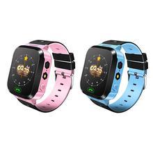 Купить онлайн 1 шт. Детские умные часы Сенсорный экран Q528 lbs-трекер анти-потерянный часы с Камера SOS Смарт-часы позиционирование ребенка детские часы