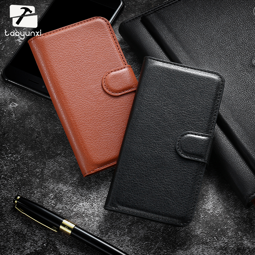 TAOYUNXI Cases For Alcatel OneTouch Pop 2 M5 5042 5042X 5042D For one touch pop2 5042A 5042W 5042E Lichee Flip Leather Skins