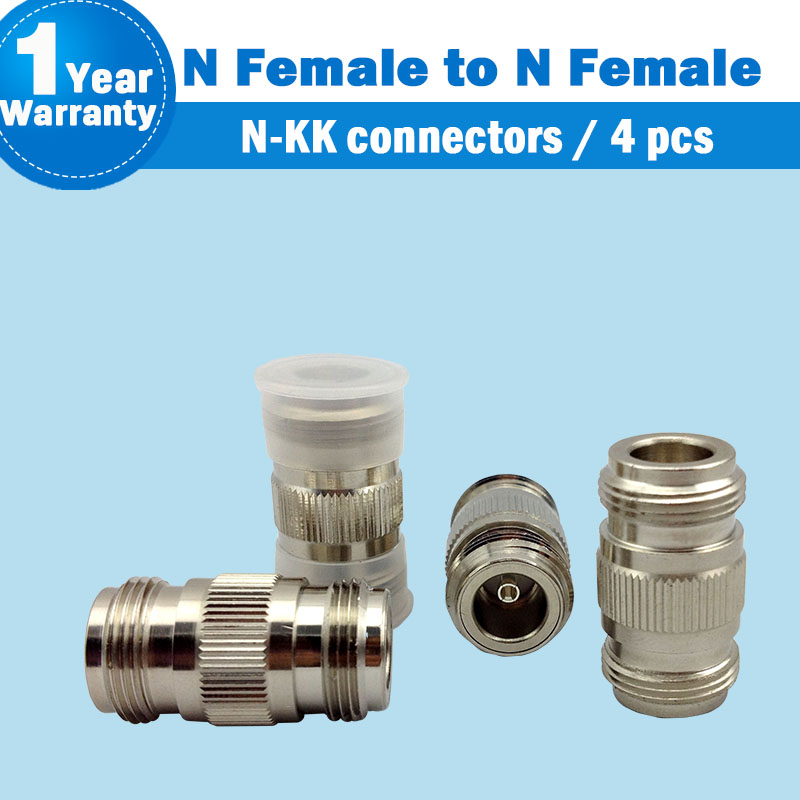 N Female To N Female Straight Joint For 2g 3g 4g Mobile Signal Repeater Booster Amplifier Connectors For 4 Pcs N-KK S27