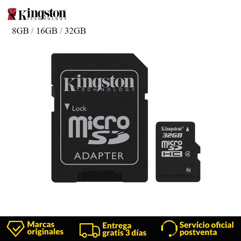 Image 1 - Original Kingston High Speed MicroSD Class 4 Micro SD Card 8GB 16GB 32GB Memories Card  TF Microsd SDHC With Adapter And Reader-in Memory Cards from Computer & Office