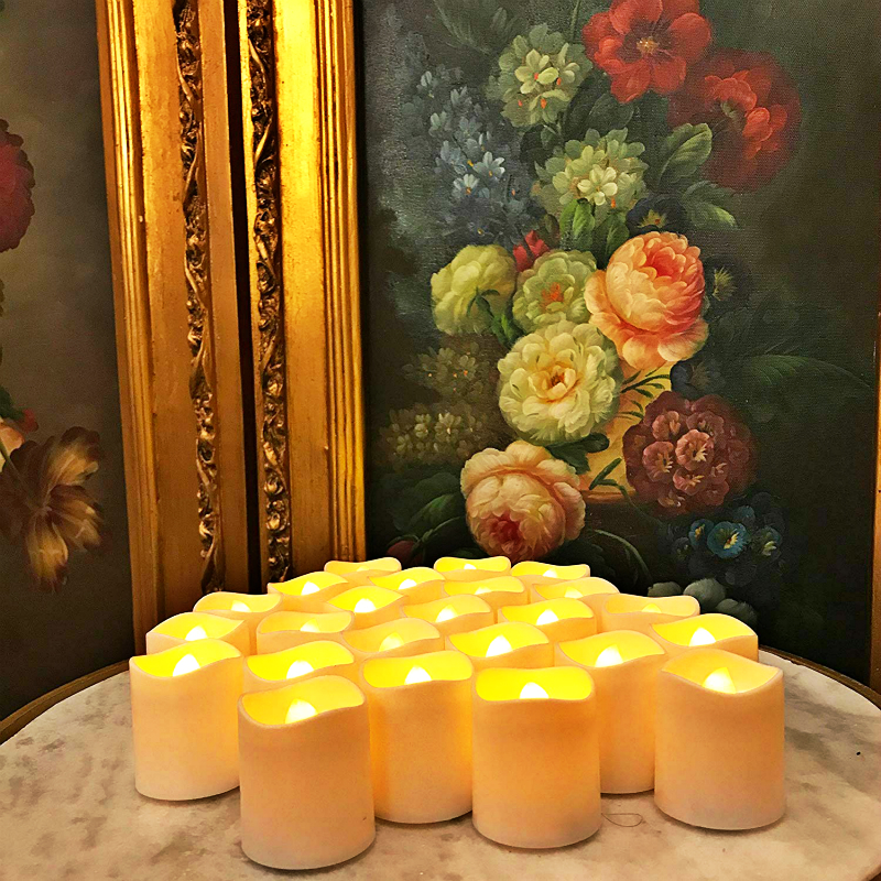 24 Pack Flameless LED Tea Light Candles, Magicpro Battery-powered Unscented LED Tealight Candles Fake Candles Tealights