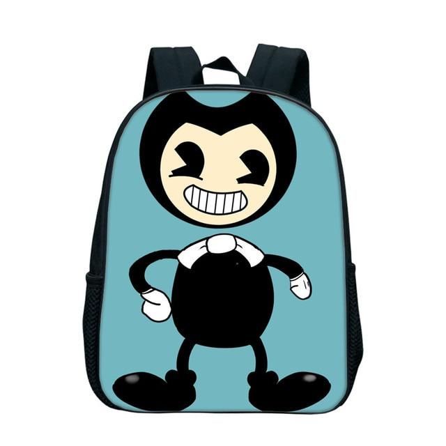ea13ee129289 2018 Bendy and The Ink Machine Backpacks For Kids Boys School Bags Nylon  Zipper Bookbags Kindergarten Baby Book Bags Gifts