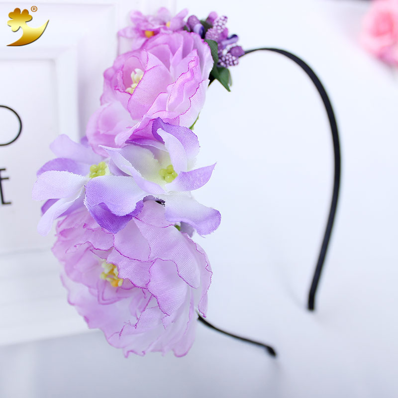 Flower Headband Flower Hairband Girl Headbands Hair Accessories Party Gift Festival Handmade Ribbon Headwear Hair mism girl french hair bun maker multifunctional hair accessories for women fine roller curls styling holder curlers headbands