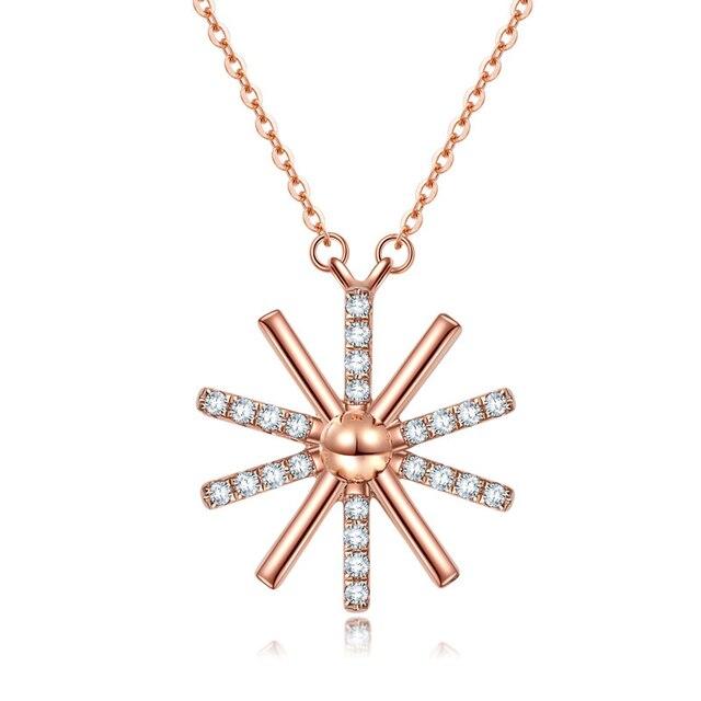 Drama Coreano Dom Colgante Collar de Plata de Ley 925 caliente Moissanites Laboratorio Crecido Diamond Collar Colgante Para Las Mujeres Joyería $ number'