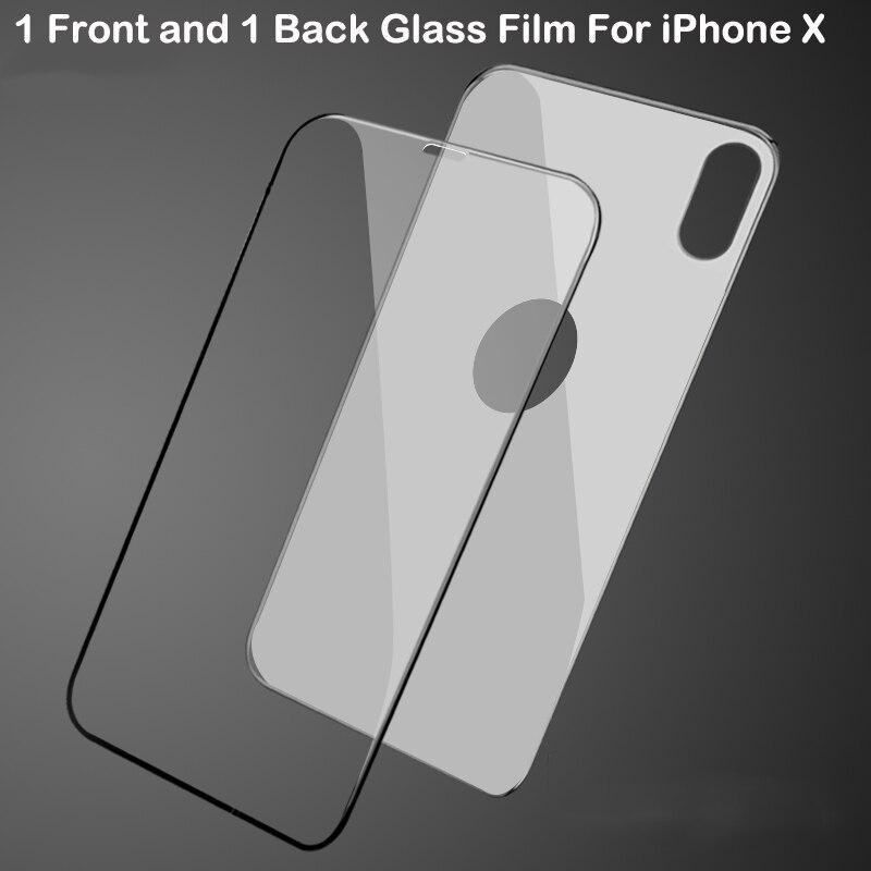 Anti-Poussière Protecteur D'écran Pour iPhone X Avant et Arrière En Verre Trempé Intégral 10 pièces 20 pièces 3D 9 H Anti-Déflagrant Film Protecteur