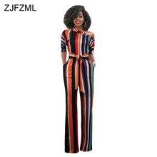 066e2884d79 ZJFZML Striped Sexy Plus Size Rompers Womens Jumpsuit Streetwear One  Shoulder Half Sleeve Wide Leg Bodysuit