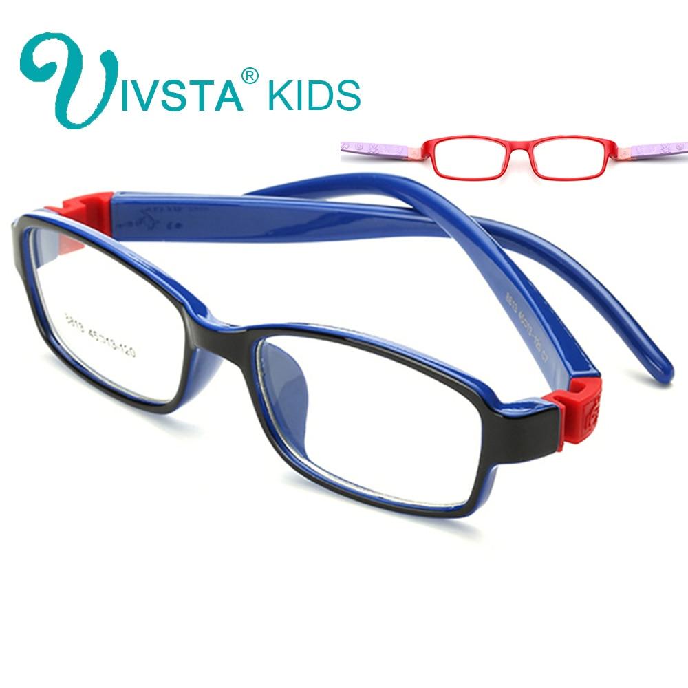 IVSTA 8813 Kacamata Anak Karet Kacamata Anak-anak Frame Kacamata Optik untuk Anak-anak Tidak Ada Sekrup Aman TR Food Grade Miopia Lense