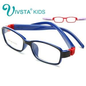 IVSTA 8813 Kid Glasses Rubber Eyeglasses Kids Frames Optical Eyewear for Children No Screw Safe TR Food Grade Myopia Lense