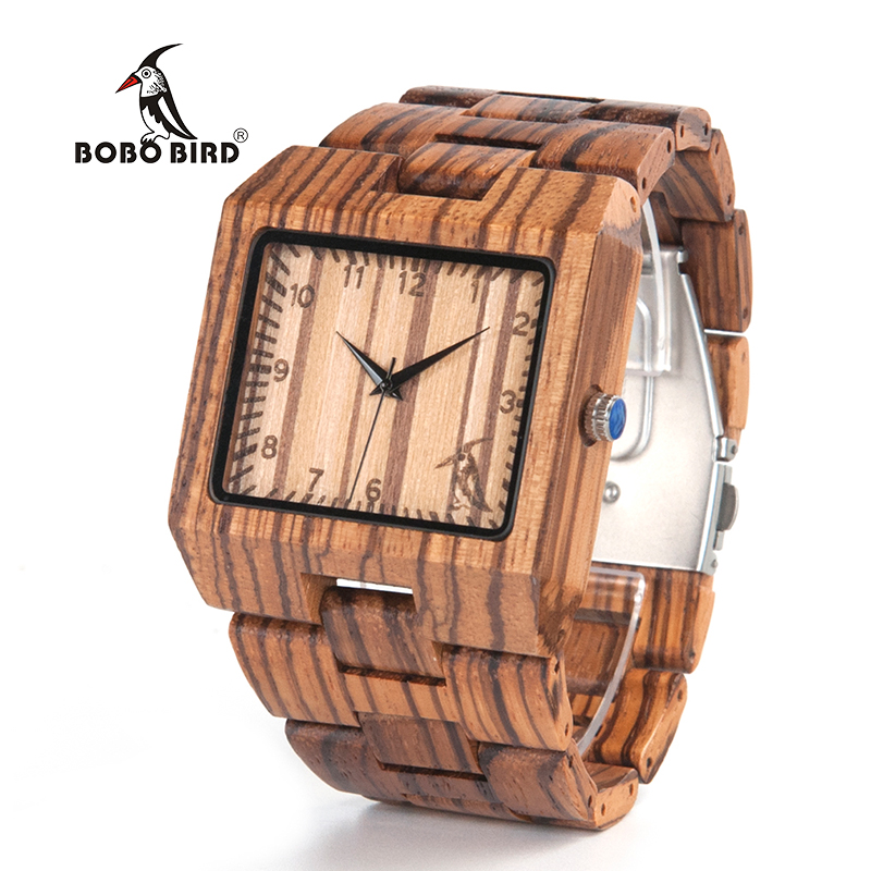 BOBO BIRD New Arrival Men Watch L24 Zebra Wooden Watch Mens Luxury Brand Design All Wood Quartz Wristwatch in Gift Box bobo bird m29 mens watch red sandalwood analog wooden quartz watch with luxury watch famous brand in gift box free shipping