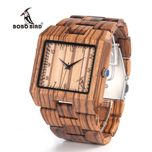 Бобо птица Новое поступление Для мужчин часы L24 Зебра деревянные часы Для мужчин S Элитный бренд Дизайн Все Вуд кварцевые наручные часы в подарочной коробке