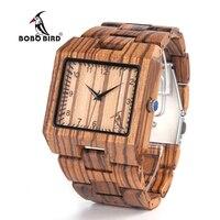 BOBO PTAK New Arrival Men Watch L24 Zebra Drewniane Zegarek Mens Luxury Brand Design Wszystkie Drewna Zegarek Kwarcowy w Prezent Box