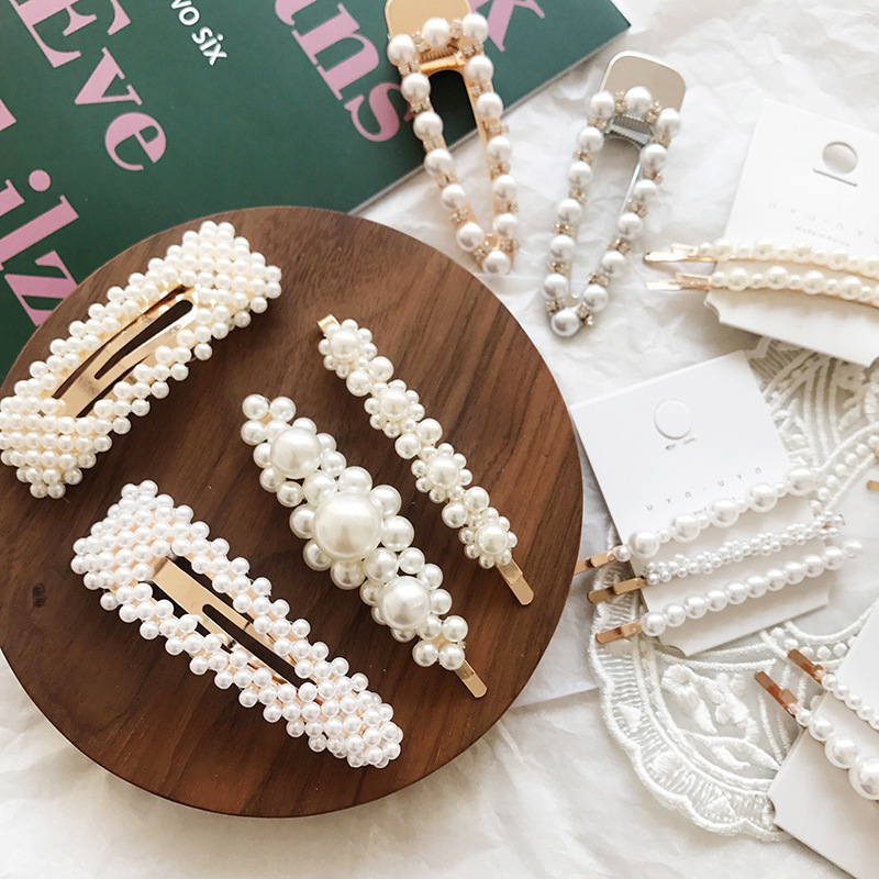 NEW Pearl Hairpin Hair Clips For Girls Hair Accessories For Women Adult   Headwear   Hairpin Barrettes Geometric Hairgrip BB Clip
