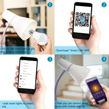 Tuya Smart Life APP Dimmable E27 WiFi RGB LED Bulb Light Voice