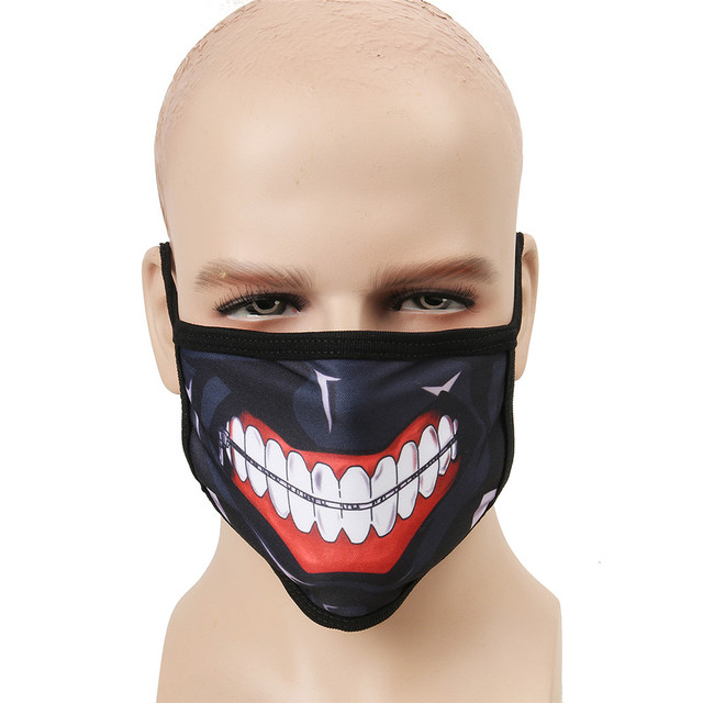 f7dd90966 Kaneki Ken Face Masks Tokyo Ghoul Unisex Adult Cycling Anti-Dust Cotton Mouth  Face Mask Halloween Party Mask Anime Cosplay Mask