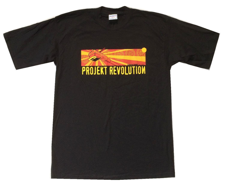 Linkin Park Projekt Revolution Rekord Arm Schwarz T Hemd Neue Offizielle NOS Projekt Neue Mode Herren Kurzarm T-Shirt Baumwolle