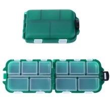 9.5*6.5*3cm 10 Slots Plastic Fishing Lure Hook Tackle Box Storage Case Portable Tackle Multifunctional Organizer Fishing Boxes стоимость