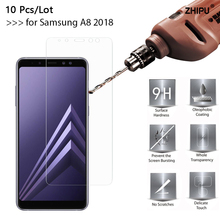 10 Pcs/Lot 2.5D 9H Tempered Glass For Samsung Galaxy A8 (2018) A530F 5.6 Screen Protector film Duos