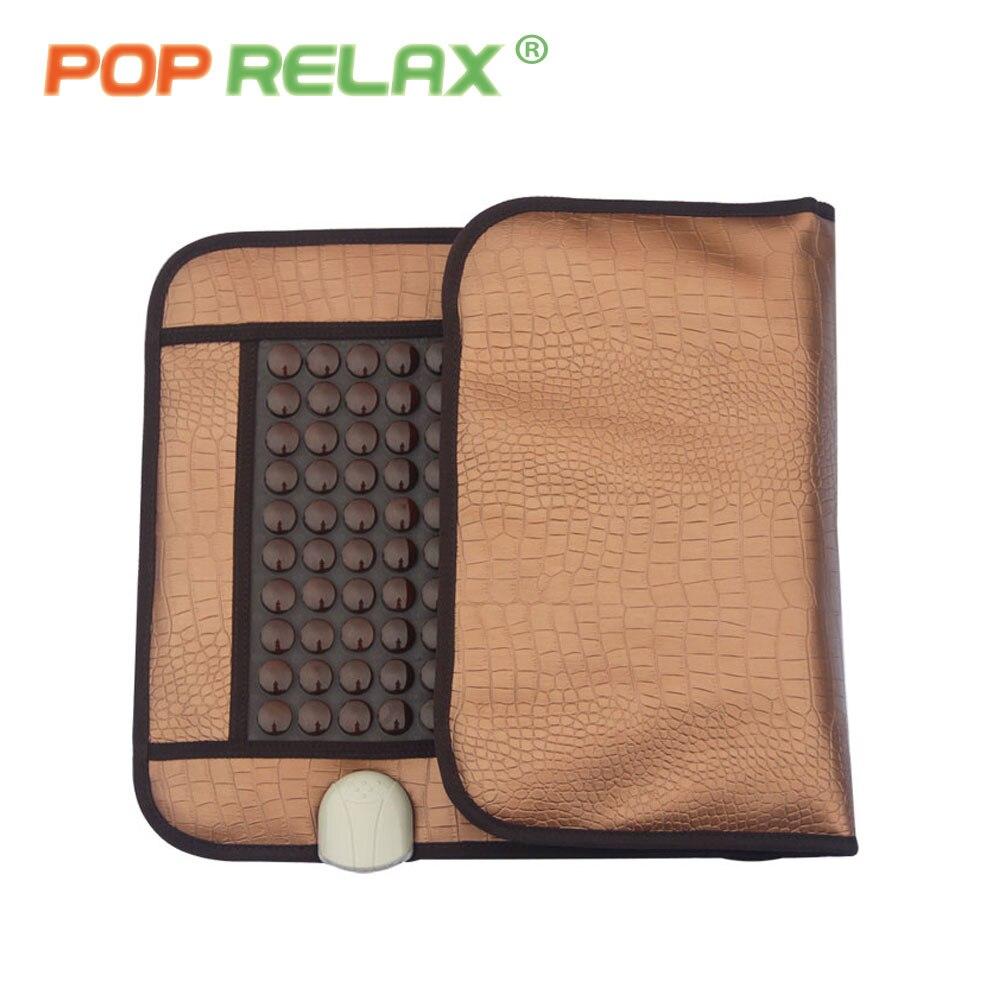 POP RELAX health care germanium tourmaline jade roller mattress electric heating massage mat pad cushion NUGA