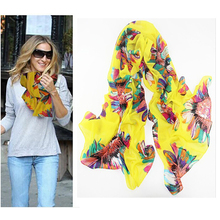 Floral Scarf Women Lady Winter Autumn Warm Soft Long Neck Large Scarf